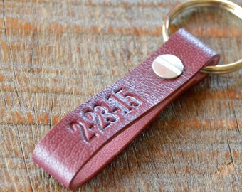 Personalized Cabernet and Pink Keychain- Long & Skinny Style