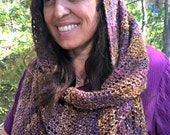Om Mani Padme Hum...Mantra Infused Infinity Meditation/Prayer Shawl