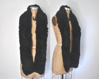 SALE Black Fur Collar / Boa Scarf / genuine fur