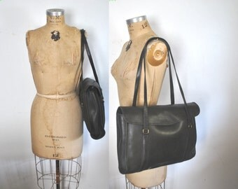 COACH Envelope Portfolio Market Tote / Black Shoulder purse / Laptop iPad Tablet bag