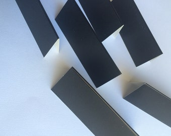 Ready to ship!  Pack of 12 heavy card-stock chalkboard wedding or party place cards with chalk.