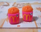 SALE - Mc French Fries Stud Earrings