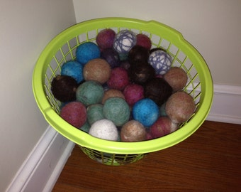 Felted 100% alpaca dryer balls