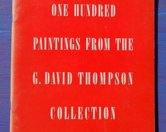 Vintage 60s One Hundred Paintings From The G. David Thompson Collection limited edition printing Solomon R. Guggenheim Foundation art book