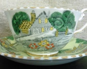 vintage teacup and saucer English bone china cottage
