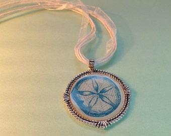 Sea urchin ribbon necklace
