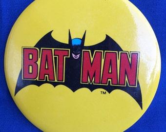 Huge Vintage Batman Pinback Button 1980's DC Comics Super Hero Collectible
