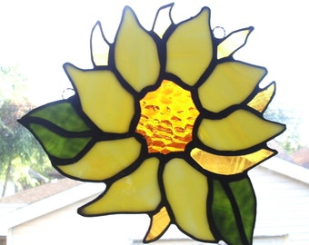 You Are My Sunshine...Stained Glass Sunflower Suncatcher
