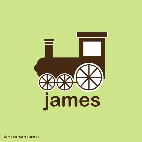 Custom Rubber Stamp   Custom Stamp   Personalized Stamp   Gifts for Him   Train Stamp   Toy Stamp   Boy Stamp   C94