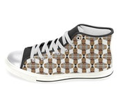 MR. T i pity the fool women's hi top sneaker shoes... original illustration