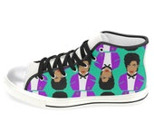 PRINCE aka the ARTIST formerly know as MEN'S hi top sneaker shoes converse style... original illustration