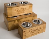 Small, Medium and Large Caymus Wine Crate Dog Feeder