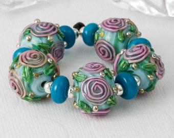 Flower Lampwork Beads