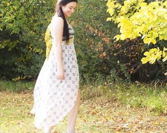 upcycled clothing, high low racer back dress . i got sunshine . S