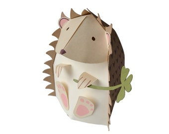 Paper Hedgehog Box DIY Papercrafting Kit