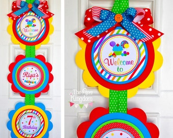 Candyland  Door Sign, XL Welcome Door Sign, Candyland Birthday, Candyland Party Decor