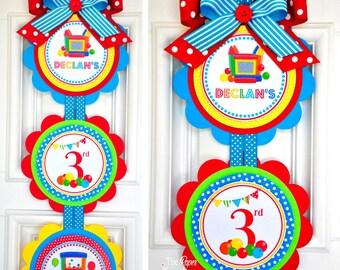 Bounce House Vertical Door Sign, Bounce House Door Hanger, Bounce House Birthday Party