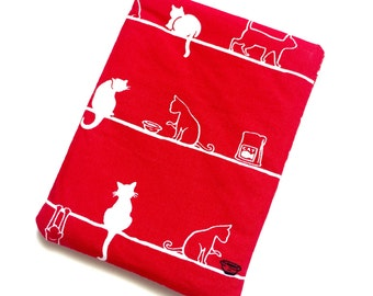 Last one - Pill Case Birth Control Cozy - The Feline Life - red
