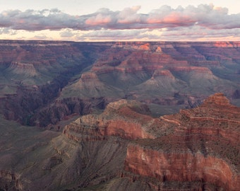 Grand Canyon Sunset Panorama Print - 10x20 Nature Landscape Photo Print - Mather Point, Grand Canyon, Arizona