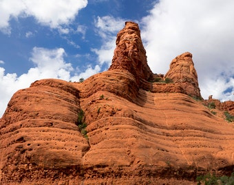 Sedona Red Rocks Landscape Panorama Print - 10x20 Nature Landscape Photo Print - Sedona, Arizona - Two Sisters Formation