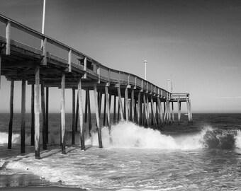 Ocean City Pier Photo - 11x14 Color Beach Photography Print - Ocean City, Maryland