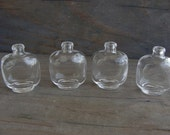Tiny Glass Bottles - 4 Pieces Fancy Vial Pendant Focal Charm Necklace Message in a Bottle Clear Shaped Oval Square