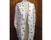 Vintage 1980s deco print womens ladies Counterparts rayon jacket blouse top