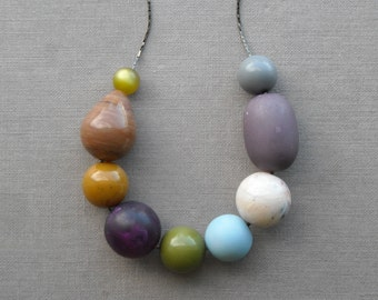 private eye - necklace - remixed vintage lucite