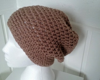 Slouchy Hat,in the colour Fawn Woman