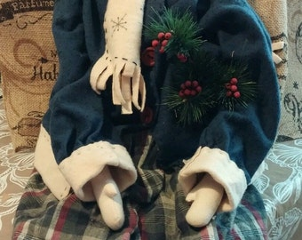 holiday rag doll