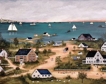 Summer on Nantucket - Limited Edition Print _ by J.L. Munro