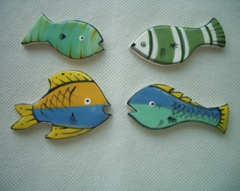 4by - SWEET Little FISH - Ceramic Mosaic Tiles