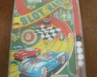 Vintage Slot Race Pinball Toy