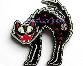 Alley Cat Brooch by Dolly Cool Spooky Halloween Black Cat
