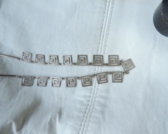 greek key necklace sterling silver