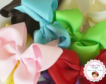 BOW BLOWOUT---Little Baby Toddler Girl Hair Bows 2.5 inch---You Pick Clips & Colors--Set of 10-