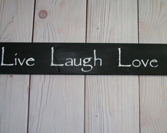 Live laugh love sign - Live laugh love -Home decor -Wall decor -  Sign - Wood sign -  love sign - Love - Live - Laugh - Rustic sign - Wood