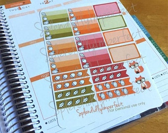 Fall Boxes and Checklist stickers for Erin Condren Life Planners
