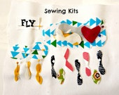 Beginner Sewing Kit Clouds Sewing Kit Sew a Pillow Sew a Wall Hanging 10x10 YOU CHOOSE a Word Kit Kids Sewing Kit