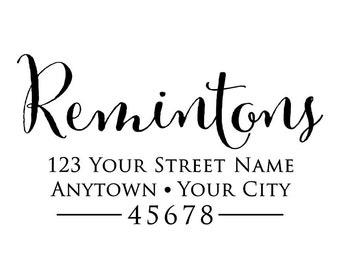 Personalized Self Inking Return Address Stamp - self inking address stamp - Custom Rubber Stamp R314