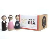 The Bold Little Ones // Wooden Peg Dolls // Fair Trade Wooden Toys Educational Toys