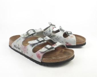 Birkenstock Sandals 37 Papillo Shoes Floral Faux leather