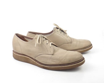 Oxford Shoes Vintage 1960s Tan Brown Leather
