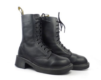 Doc Martens Boots Vintage 1990 Black Dr Made in England UK size 6 Women's US size 8