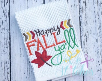 Happy Fall Ya'll Fall Applique Design