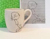 custom coffee mug made with your child's drawing