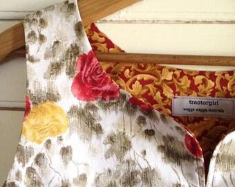 summer shirt sleeveless top - easy fit Medium - Grandma roses
