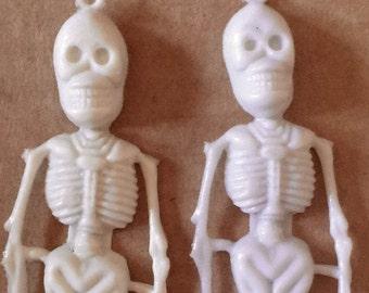 1960s Plastic SKELETON Halloween Decoration