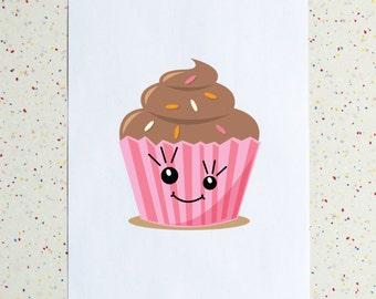 Pink Cupcake Downloadable Print