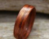 Kingwood Bentwood Ring - Handcrafted Wooden Ring